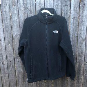 North Face Black Zip Up Jacket